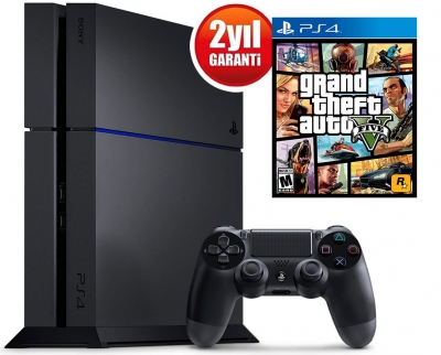 Sony Playstatıon 4 500GB Siyah + GTA 5