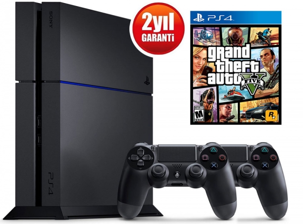 SONY PLAYSTATION 4 500GB + DS4 + GTA 5