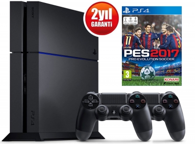 SONY PLAYSTATION 4 500GB + DS4 + PES 17