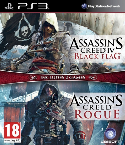 PS3 ASSASSIN'S CREED 4 BLACK FLAG ve ROGUE (2.EL)