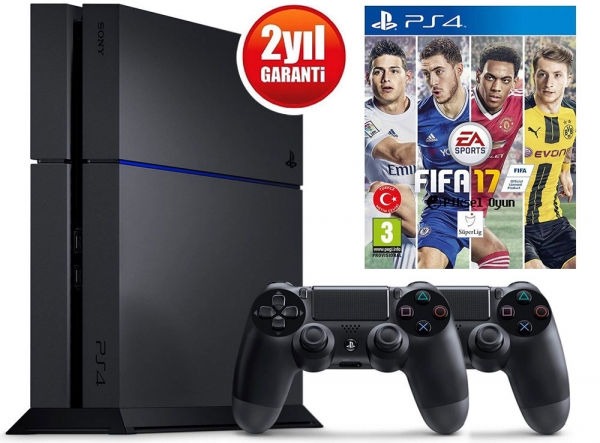 SONY PLAYSTATION 4 500GB + DS4 + FIFA 17